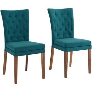 Home affaire Stuhl »Colorado«, dunkelbraun, 2er-Set, Luxus-Microfaser, Beine Nußbaum, FSC®-zertifiziert