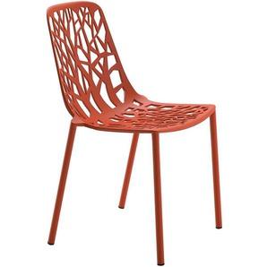 Stuhl Forest Fast rot, Designer Robby & Francesca Cantarutti, 81x48x53 cm