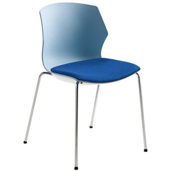 Stuhl in Blaugrau Kunststoff Made in Germany