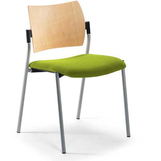 Stuhl in Grün und Buchefarben modern
