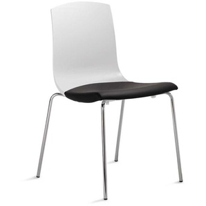Stuhl in Schwarz-Weiß gepolstert