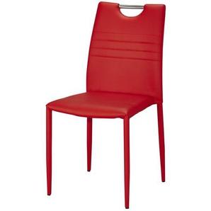 Stuhl | rot | 43 cm | 91 cm | 51 cm | Möbel Kraft