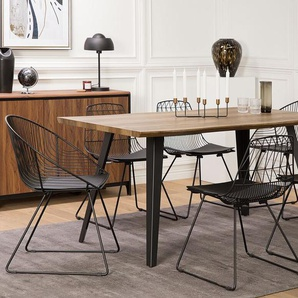 Stuhl schwarz 2er Set HARLAN