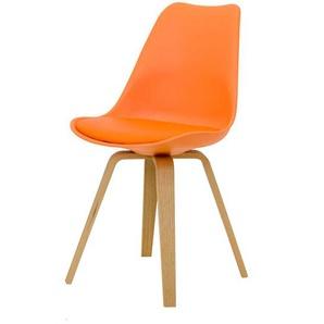 Stuhl Set in Orange modern (2er Set)