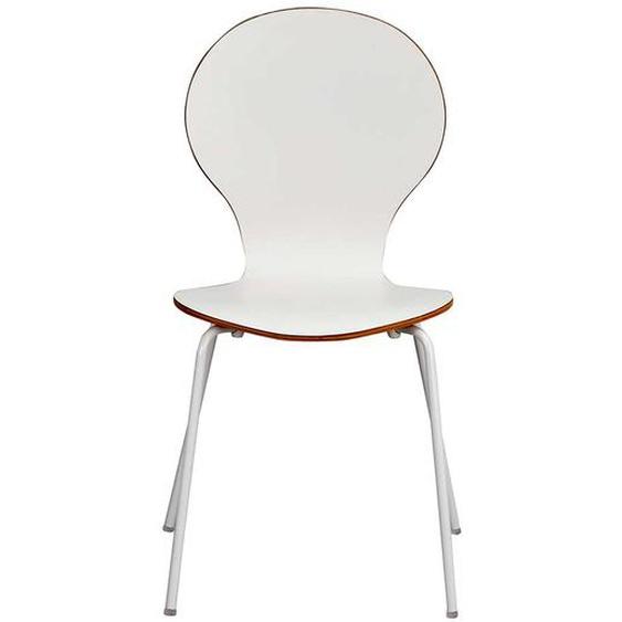 Stuhl Set in Wei� und Eiche Schichtholz (4er Set)
