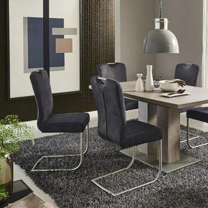Stuhlgruppe Francesco / Santos in Beton-Nachbildung, mit ausziehbarer Tischplatte