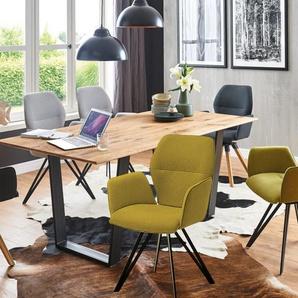 Stuhlgruppe Merlot in eiche/schwarz/grün