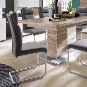 Stuhlgruppe Pia/Luzern in grau/Sterling Oak-Optik