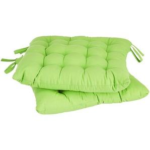 Stuhlkissen 2er-Set grün