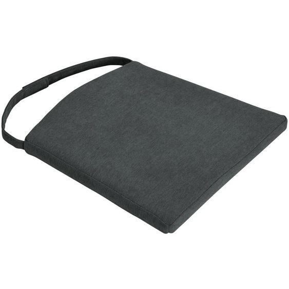 Stuhlkissen - grau - Webstoff | Möbel Kraft