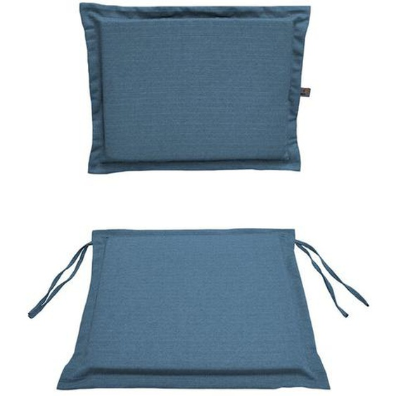 Stuhlkissen Set, Blau, Stoff