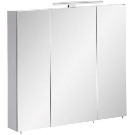 Stylife Spiegelschrank Grau , Glas , 6 Fächer , 70x71x16 cm