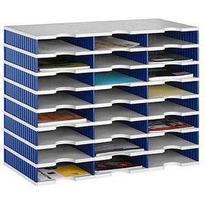 styro Sortierstation Styrodoc grau/blau mit 24 Fächern