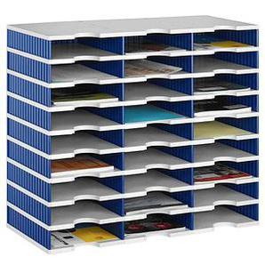 styro Sortierstation Styrodoc grau/blau mit 27 Fächern