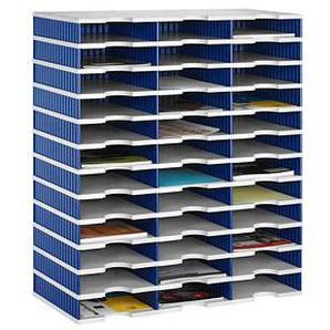 styro Sortierstation Styrodoc grau/blau mit 36 Fächern