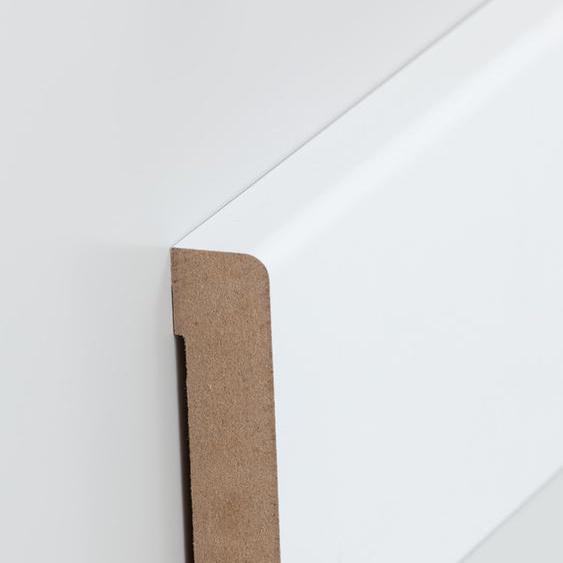 Südbrock Fußleiste 19 x 96 x 2500 mm, Oberkante abgerundet, MDF-Kern mit lackierfähiger Folie-SALE