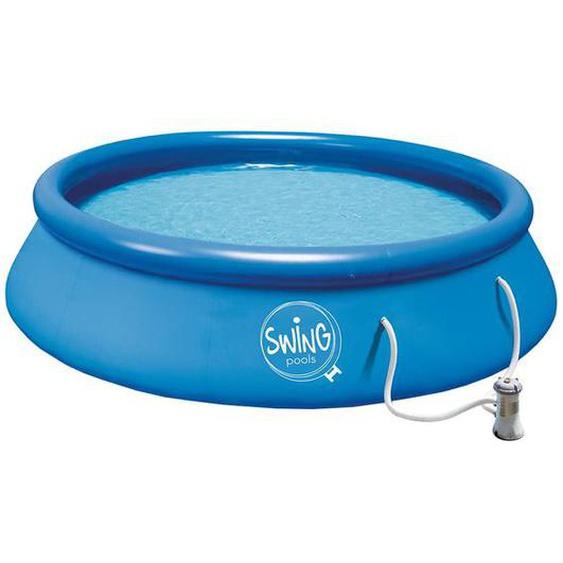 Summer Fun Quick Set Pool Ø305x76cm mit Kartuschenfilterpumpe Blau Blau