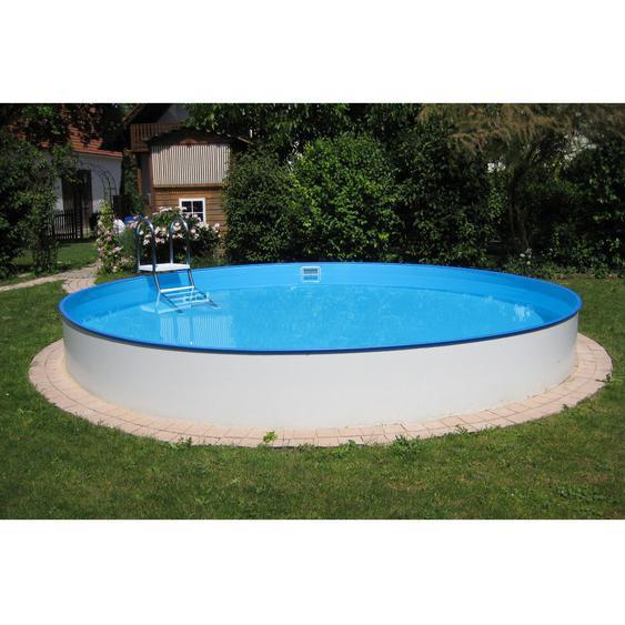 Summer Fun Stahlwand Pool Einbau-und Aufstellbecken rund Ø 420 cm x 120 cm