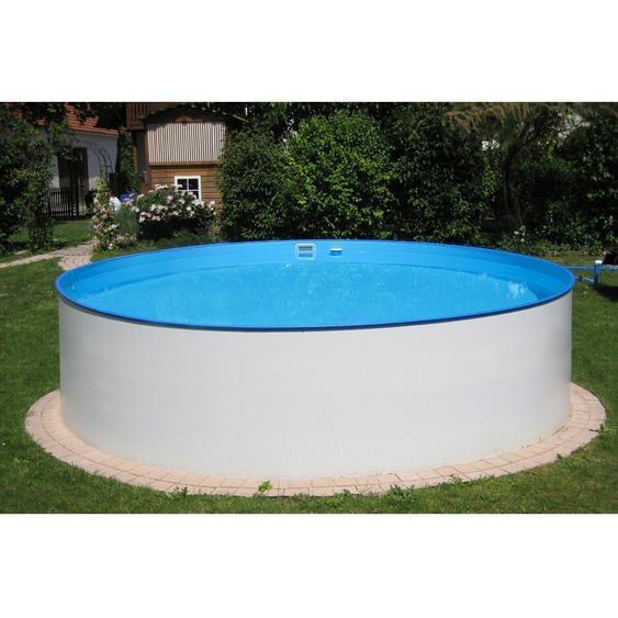 Summer Fun Stahlwand Pool-Set ALMERIA Aufstellbecken Weiß Ø 350 x 120 cm