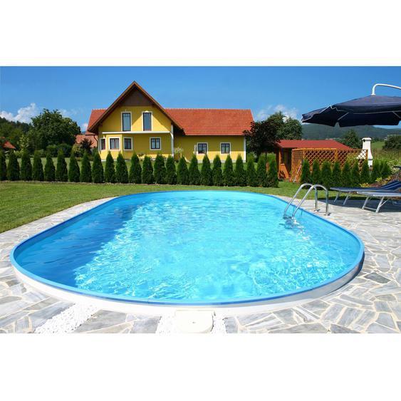 Summer Fun Stahlwand Pool-Set FLAMINGO Einbaubecken Ovalf. 800x420x150cm