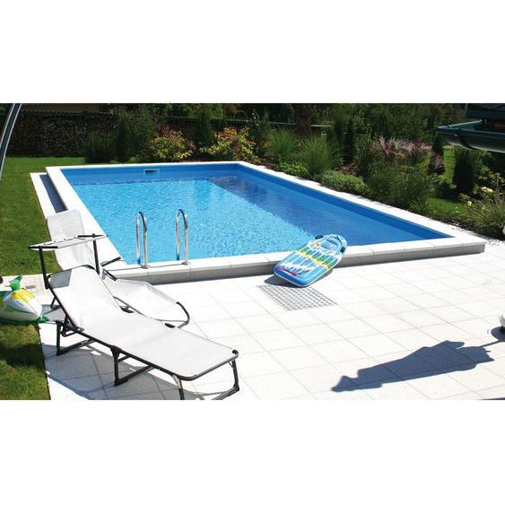 Summer Fun Styropor-Pool Set LUGANO Einbaub.700 x 350 x 150cm inkl. Stahlleiter