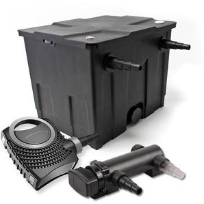 SunSun 1-Kammer Filter Set für 12000l mit 18W UVC 3er Teich Klärer und NEO7000 50W Pumpe - WILTEC