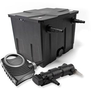 SunSun 1-Kammer Filter Set für 12000l mit 24W UVC 6er Teich Klärer und NEO7000 50W Pumpe - WILTEC