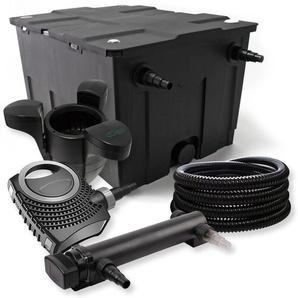 SunSun 1-Kammer Filter Set für 60000l mit 24W UV Teich Klärer NEO7000 50W Pumpe Schlauch und Skimmer - WILTEC