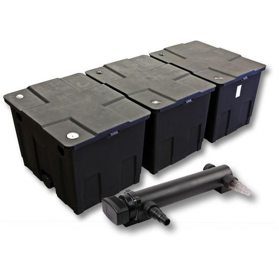 SunSun 3-Kammer Filter Set für 90000l Teich mit 36W UVC 3er Teichklärer - WILTEC
