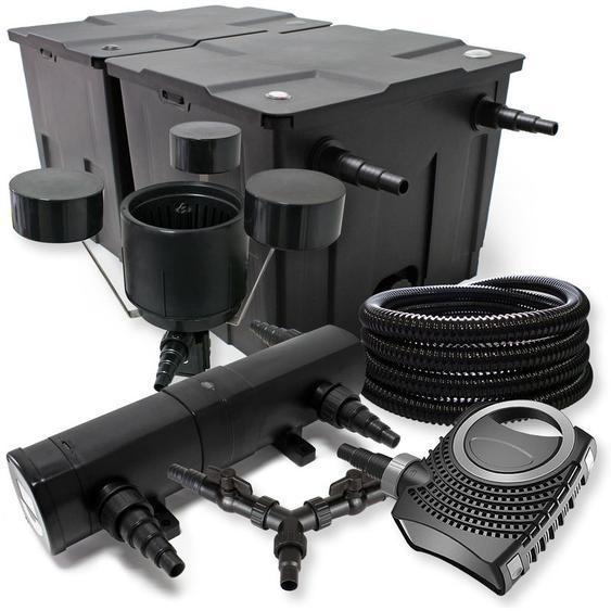 SunSun Filter Set 60000l Teich 36W Teichklärer NEO10000 80W Pumpe 25m Schlauch Skimmer - WILTEC