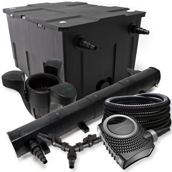 SunSun Filter Set 60000l Teich 72W Teichklärer NEO10000 80W Pumpe 25m Schlauch Skimmer SK30 - WILTEC