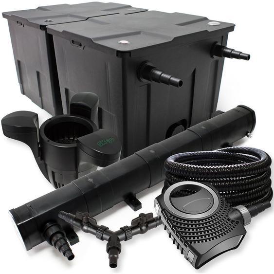 SunSun Filter Set für 60000l Teich 72W Teichklärer NEO8000 70W Pumpe 25m Schlauch Skimmer SK30 - WILTEC