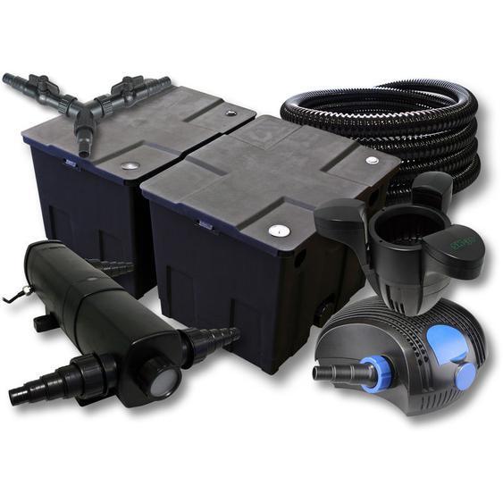SunSun Filter Set für 60000l Teich mit 36W Teichklärer und 100W ECO Pumpe 25m Schlauch Skimmer SK30 - WILTEC
