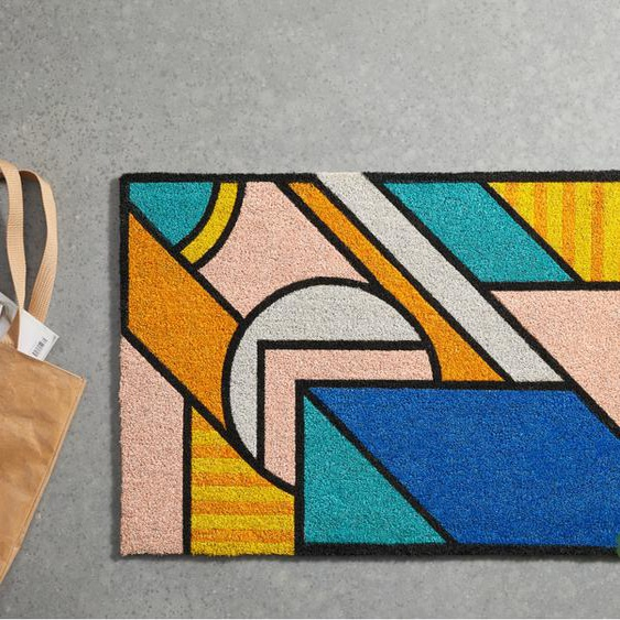 Supermundane Fussmatte (60 x 90 cm), Mehrfarbig