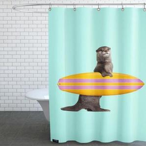 Surfing Otter - Duschvorhang