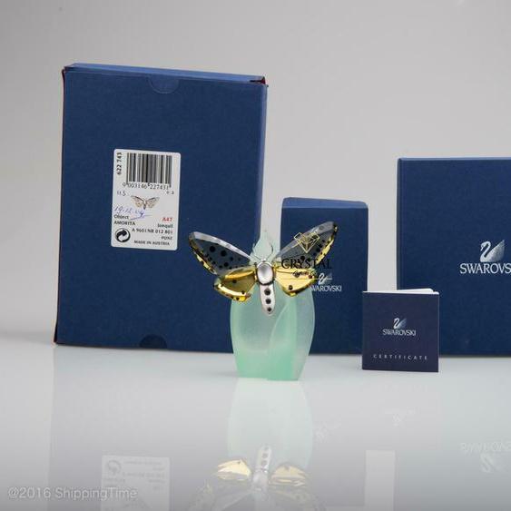 Swarovski Figurine Crystal Paradise Butterfly Amorita Jonquil 622743