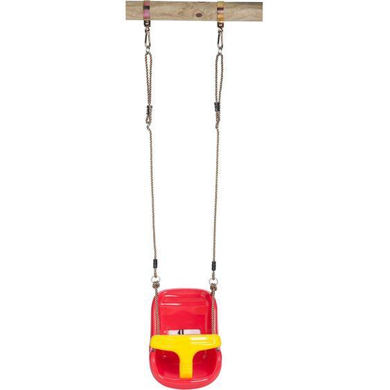 SwingKing Babyschaukel Deluxe Rot-Gelb