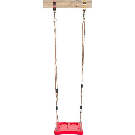 SwingKing Schaukelbrett Fußschaukel Rot 8 cm x 36 cm x 36 cm