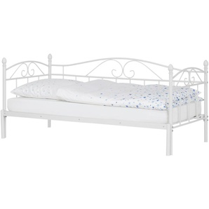 Tagesbett mit Auszug 180x200 - weiß Harrow ¦ weiß ¦ Maße (cm): B: 208 H: 91 T: 99,3 Betten  Metallbetten » Höffner