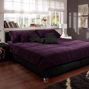 Tagesdecke Amadeo, violett, 140x200 cm, Tagesdecke
