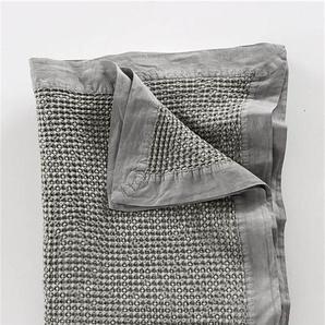 Tagesdecke stonewashed dunkelgrau - bunt - 100 % Baumwolle - Tagesdecken & Quilts - Überwürfe & Sofaüberwürfe