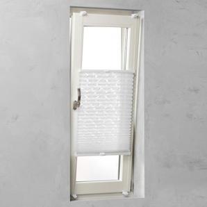Tageslichtplissee Klemmfix Ausbrenner weiß 100 x 130 cm