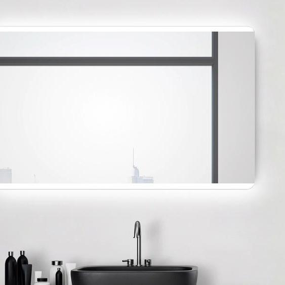 Talos Badspiegel Chic, 120 x 70 cm, Design Lichtspiegel Einheitsgröße silberfarben und Spiegelschränke Badmöbel Badaccessoires SOFORT LIEFERBARE Möbel