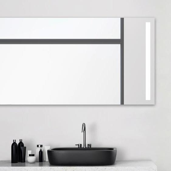 Talos Badspiegel Light, 140x 70 cm, Design Lichtspiegel Einheitsgröße silberfarben und Spiegelschränke Badmöbel Badaccessoires SOFORT LIEFERBARE Möbel