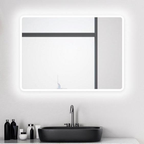 Talos Badspiegel »Talos Moon«, 80 x 60 cm, Design Lichtspiegel