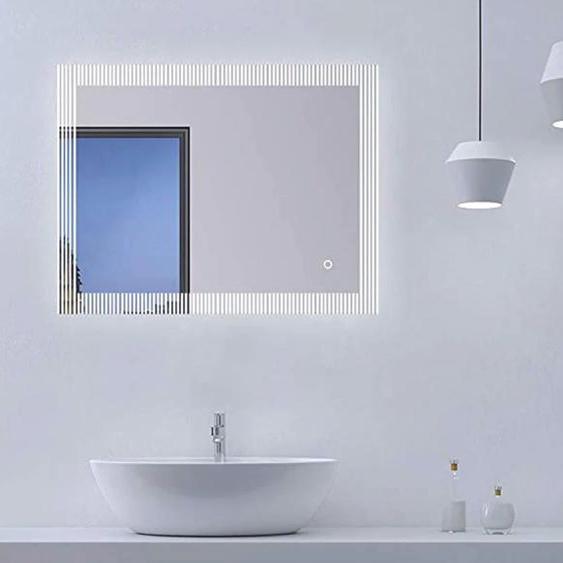 Talos Badspiegel TRACE, (Komplett-Set) B/H/T: 80 cm x 60 5 schwarz und Spiegelschränke Badmöbel Badaccessoires SOFORT LIEFERBARE Möbel