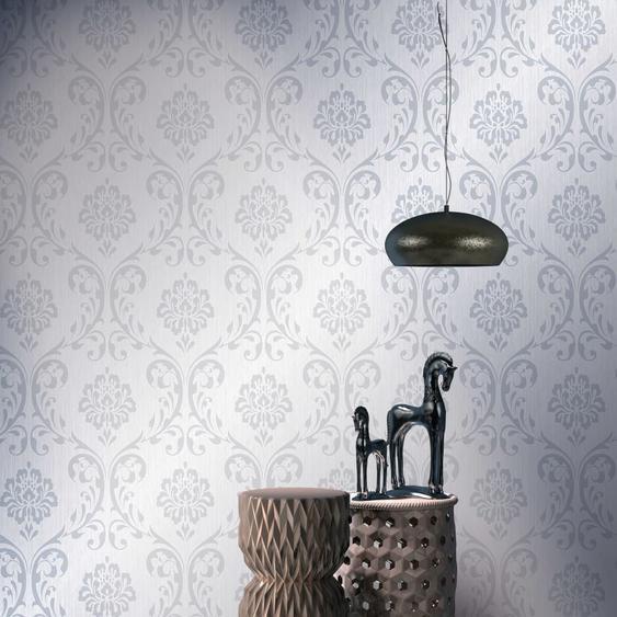 Tapetenrollen Vlies 4 Stk. Weiß 0,53×10 m Ornament
