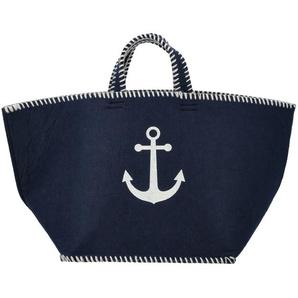Tasche  Anker ¦ blau ¦ Filz ¦ Maße (cm): B: 65 H: 35 T: 35 Aufbewahrung  Taschen & Beutel - Höffner