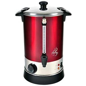 Efbe-Schott Heißgetränkeautomat für Kaffee, Tee und Glühwein, 6,8 l Fassungsvermögen, 950 W, Edelstahl, Metallic-Rot/Silber, SC GW 900