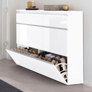 Tecnos Schuhschrank Magic, Breite 120 cm B/H/T: x 108 26,5 weiß Schuhschränke Garderoben Nachhaltige Möbel